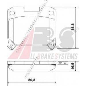 ABS 36936 Гальмiвнi колодки дисковi