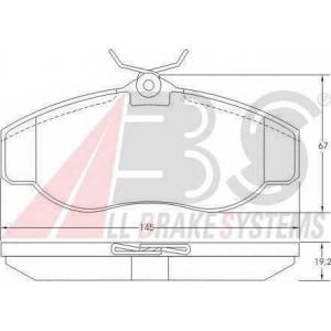 ABS 36941 Комплект тормозных колодок, дисковый тормоз