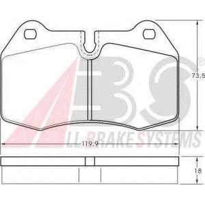 A.B.S. 36958 Колодка торм. BMW 7 ser. E38/8 ser. E31 передн. (пр-во ABS)