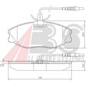 A.B.S. 36977 Колодка торм. CITROEN/PEUGEOT XSARA/ZX/306/406/607 передн. (пр-во ABS)