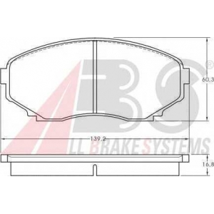 A.B.S. 36995 Комплект тормозных колодок, дисковый тормоз Мазда Мпв