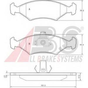 A.B.S. 36997 Комплект тормозных колодок, дисковый тормоз Форд Фиеста