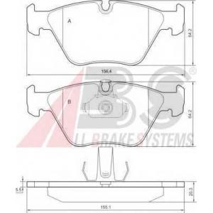 A.B.S. 36998 Колодка торм. BMW 3/5/X3 передн. (пр-во ABS)