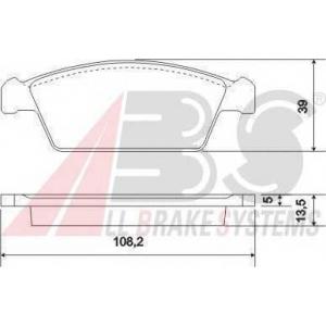 A.B.S. 37002 Комплект тормозных колодок, дисковый тормоз Дэу Тико