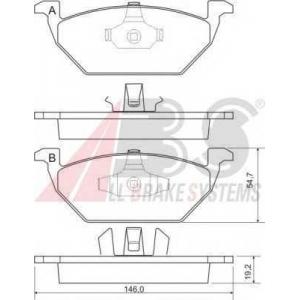 A.B.S. 37008 Колодка торм. AUDI/SEAT/SKODA/VW A3/TOLEDO/OCTAVIA/GOLF/BORA передн. (пр-во ABS)