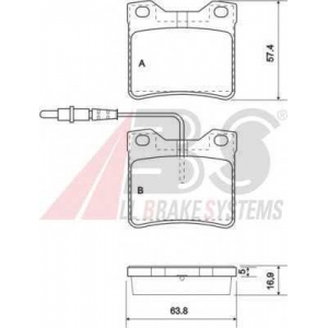 A.B.S. 37009 Комплект тормозных колодок, дисковый тормоз Мерседес В Класс