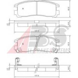 A.B.S. 37014 Комплект тормозных колодок, дисковый тормоз Опель Синтра