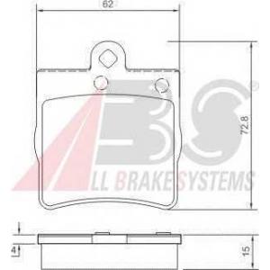 A.B.S. 37021 Колодка торм. MB C/E/SLK/CLK KLASSE задн. (пр-во ABS)