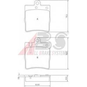 A.B.S. 37022 Комплект тормозных колодок, дисковый тормоз Мерседес Цлц-Класс