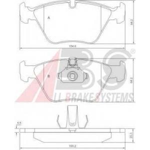 A.B.S. 37036 Колодка торм. BMW 520-528i передн. (пр-во ABS)