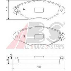 A.B.S. 37040 Колодка торм. CITROEN/PEUG/RENAULT XSARA/306/KANGOO передн. (пр-во ABS)