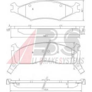 A.B.S. 37043 Комплект тормозных колодок, дисковый тормоз Киа Спортейдж