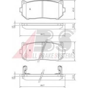 A.B.S. 37045 Комплект тормозных колодок, дисковый тормоз Киа Кларус