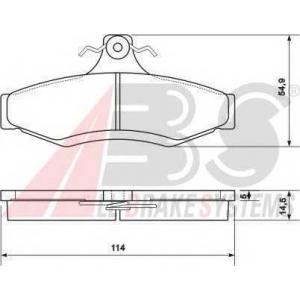 A.B.S. 37054 Комплект тормозных колодок, дисковый тормоз Дэу Нубира