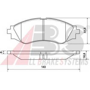 A.B.S. 37055 Комплект тормозных колодок, дисковый тормоз Дэу Нубира