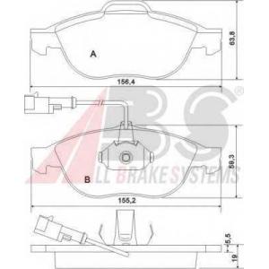 A.B.S. 37064 Комплект тормозных колодок, дисковый тормоз Лансия