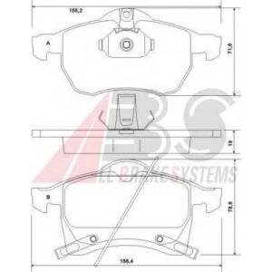 A.B.S. 37076 Колодка торм. OPEL ASTRA/ZAFIRA передн. (пр-во ABS)