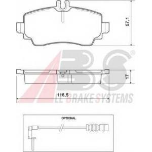 A.B.S. 37078 Колодка торм. MB A160 передн. (пр-во ABS)