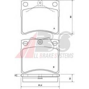 A.B.S. 37099 Колодка торм. VW T4 (вент.) передн. (пр-во ABS)