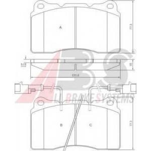 A.B.S. 37106 Комплект тормозных колодок, дисковый тормоз Лансия