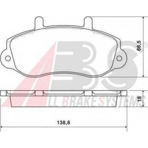 A.B.S. 37111 Колодка торм. OPEL/RENAULT MOVANO/MASTER 15\ передн. (пр-во ABS)