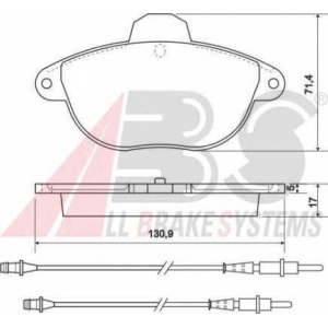 A.B.S. 37114 Комплект тормозных колодок, дисковый тормоз Ситроен Ксантия Брейк
