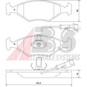 A.B.S. 37121 Комплект тормозных колодок, дисковый тормоз Фиат Албеа
