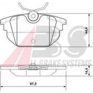 A.B.S. 37123 Комплект тормозных колодок, дисковый тормоз Лансия