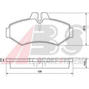 A.B.S. 37124 Гальмівні колодки дискові зад. DB/VW/Vario/Sprinter/VW LT