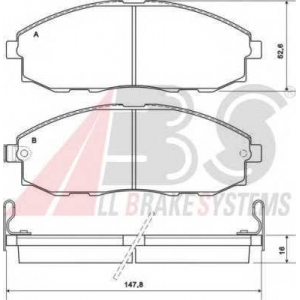 A.B.S. 37130 Комплект тормозных колодок, дисковый тормоз Хюндай Н1