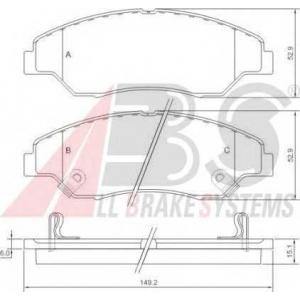 A.B.S. 37137 Комплект тормозных колодок, дисковый тормоз Киа Спортейдж