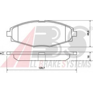 A.B.S. 37139 Колодка торм. DAEWOO LANOS 1.5 передн. (пр-во ABS)
