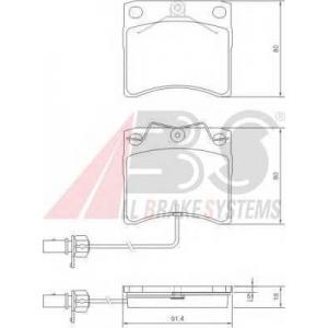 A.B.S. 37144 Колодка торм. VW T4 передн. (пр-во ABS)