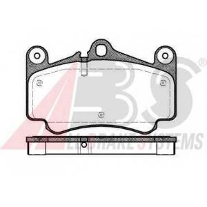 ABS 37147 Комплект тормозных колодок, дисковый тормоз
