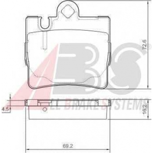 A.B.S. 37150 Колодка торм. MB CL/S (W215/220) задн. (пр-во ABS)