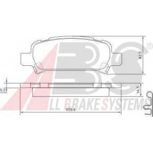 A.B.S. 37164 Колодка торм. SUBARU IMPREZA/LEGACY/FORESTER задн. (пр-во ABS)