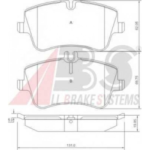 A.B.S. 37165 Комплект тормозных колодок, дисковый тормоз Мерседес Цлц-Класс