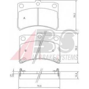 A.B.S. 37168 Комплект тормозных колодок, дисковый тормоз Дайхатсу