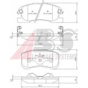 A.B.S. 37169 Комплект тормозных колодок, дисковый тормоз Дайхатсу Сирион