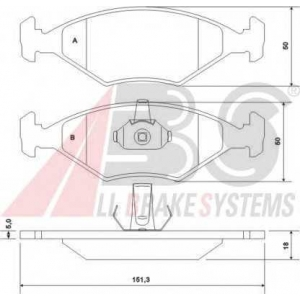 A.B.S. 37170 Комплект тормозных колодок, дисковый тормоз Фиат Палио