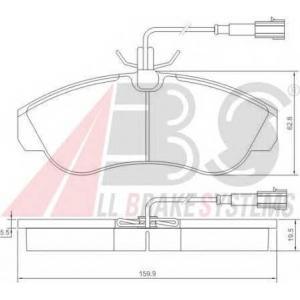 ABS 37171 Гальмiвнi колодки дисковi