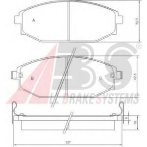 A.B.S. 37173 Комплект тормозных колодок, дисковый тормоз Хюндай Галлопер