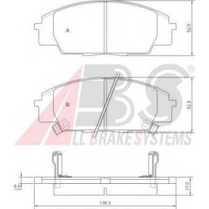 A.B.S. 37174 Комплект тормозных колодок, дисковый тормоз Хонда С2000