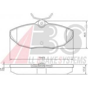 A.B.S. 37178 Комплект тормозных колодок, дисковый тормоз Ягуар С Тайп