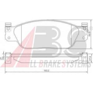 A.B.S. 37179 Комплект тормозных колодок, дисковый тормоз Ягуар С Тайп