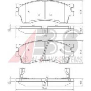 A.B.S. 37180 Комплект тормозных колодок, дисковый тормоз Киа Каренс