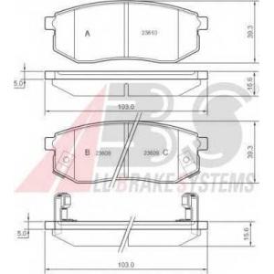 A.B.S. 37182 Комплект тормозных колодок, дисковый тормоз Хюндай Галлопер