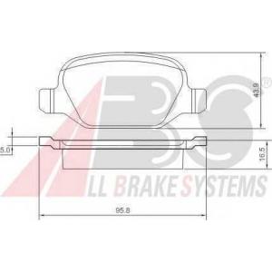 A.B.S. 37184 Комплект тормозных колодок, дисковый тормоз Лансия