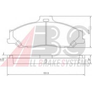 A.B.S. 37193 Комплект тормозных колодок, дисковый тормоз Форд Ренджер