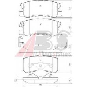 A.B.S. 37199 Комплект тормозных колодок, дисковый тормоз Джип Патриот